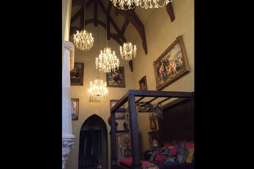 Castle Master Bedroom Video Display