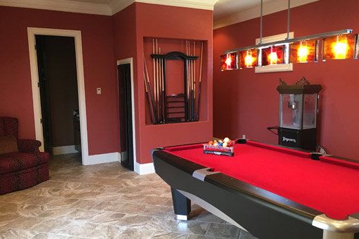 Red Game Room Video & Audio
