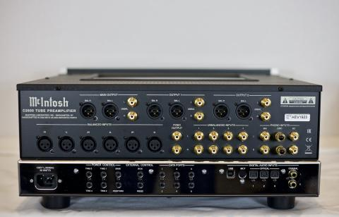 Back View, McIntosh C2600 Audio Amplifier.