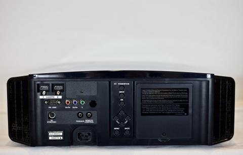 Back View, JVC RS40U 1080p LCOS D-ILA Projector.