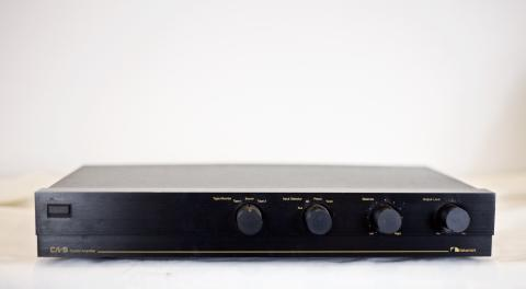 Front view, Nakamichi CA-5 Audio Preamplifier.