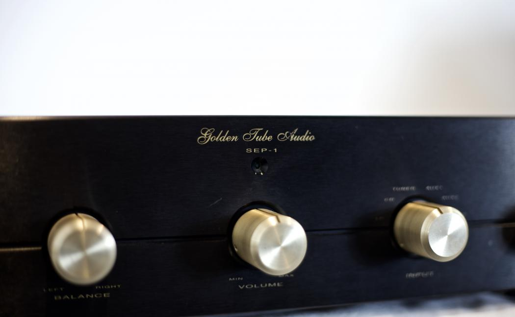 Front View, Golden Tube Audio, SEP-1 Tube Stereo Preamp.