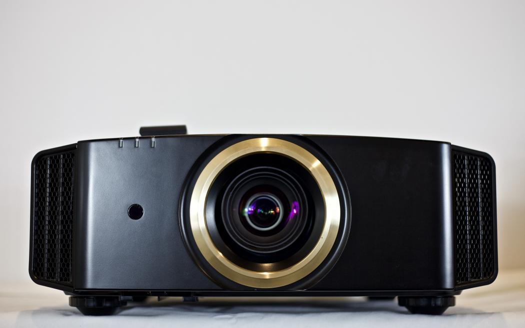 Front View, JVC RS40U 1080p LCOS D-ILA Projector.