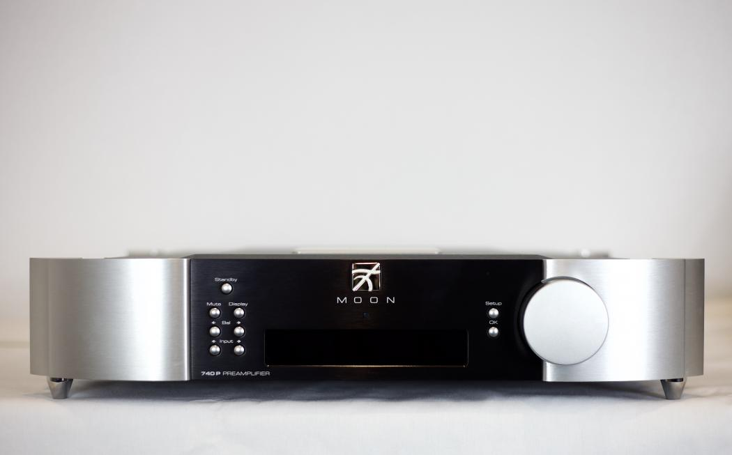 Front View, Moon 740P Preamplifier.