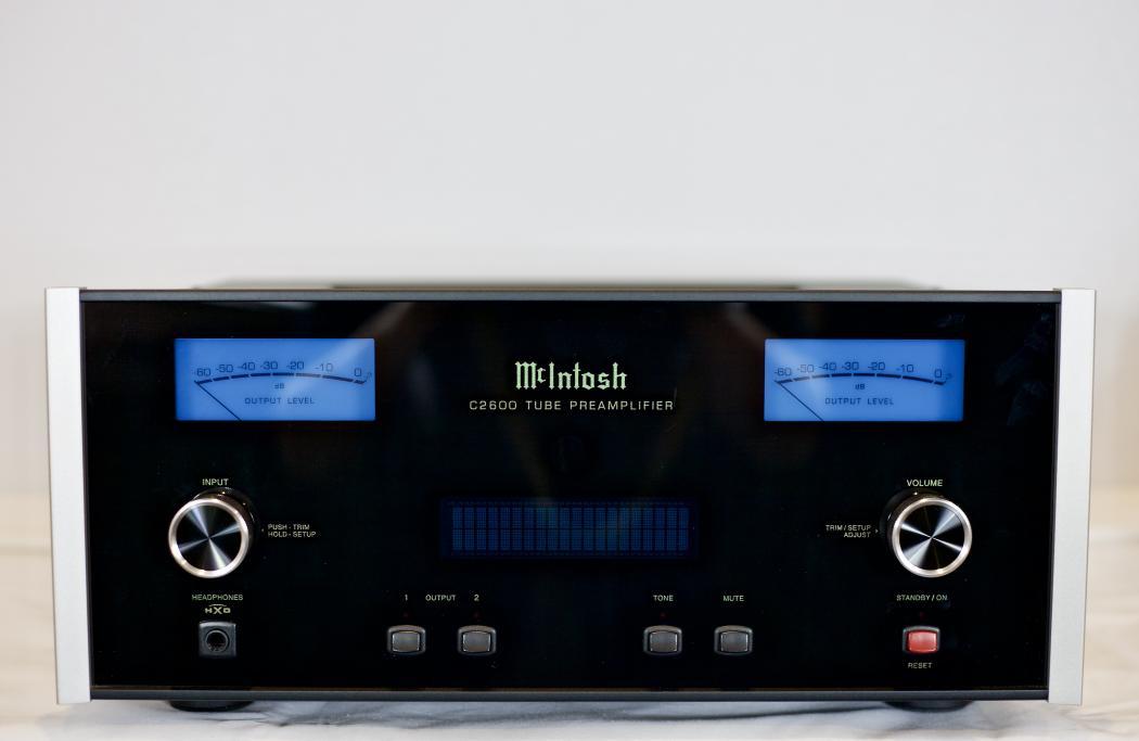Front View, McIntosh C2600 Audio Amplifier.