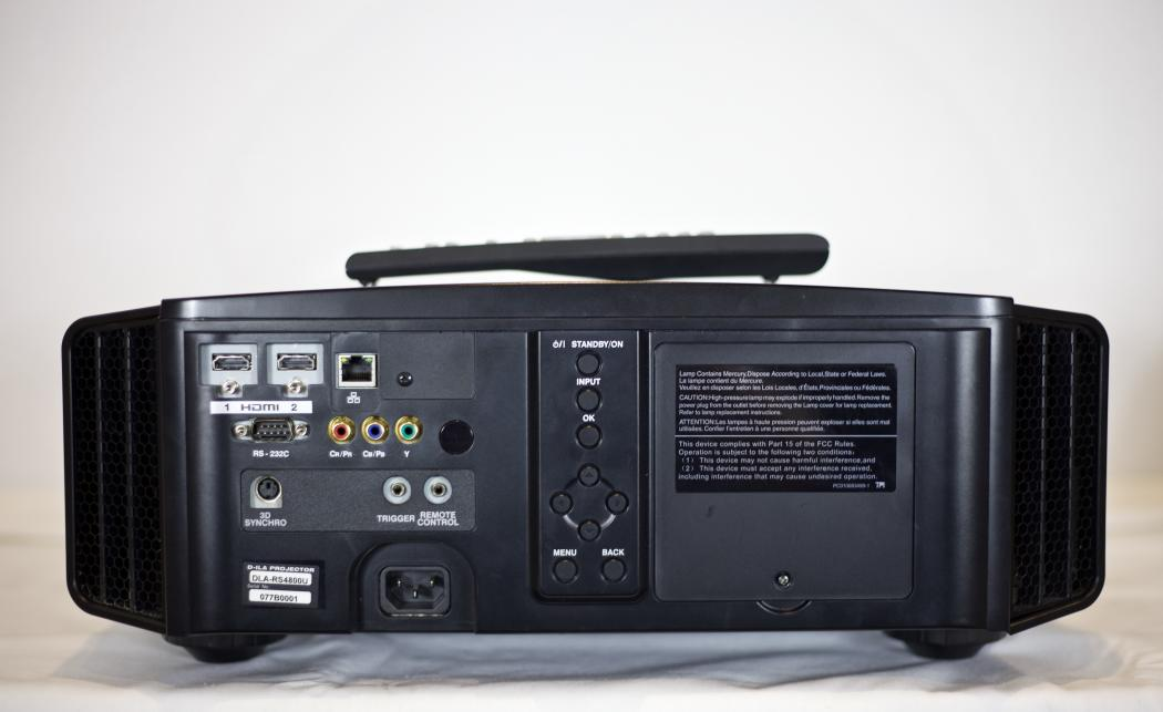 Back View,  JVC DLA-RS4800 Video Projection Equipment.