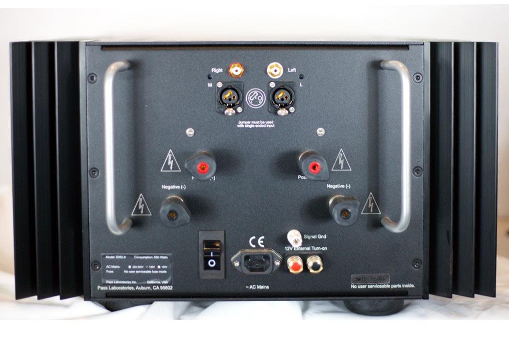 Pass X350.8 Amplifier - rear view
