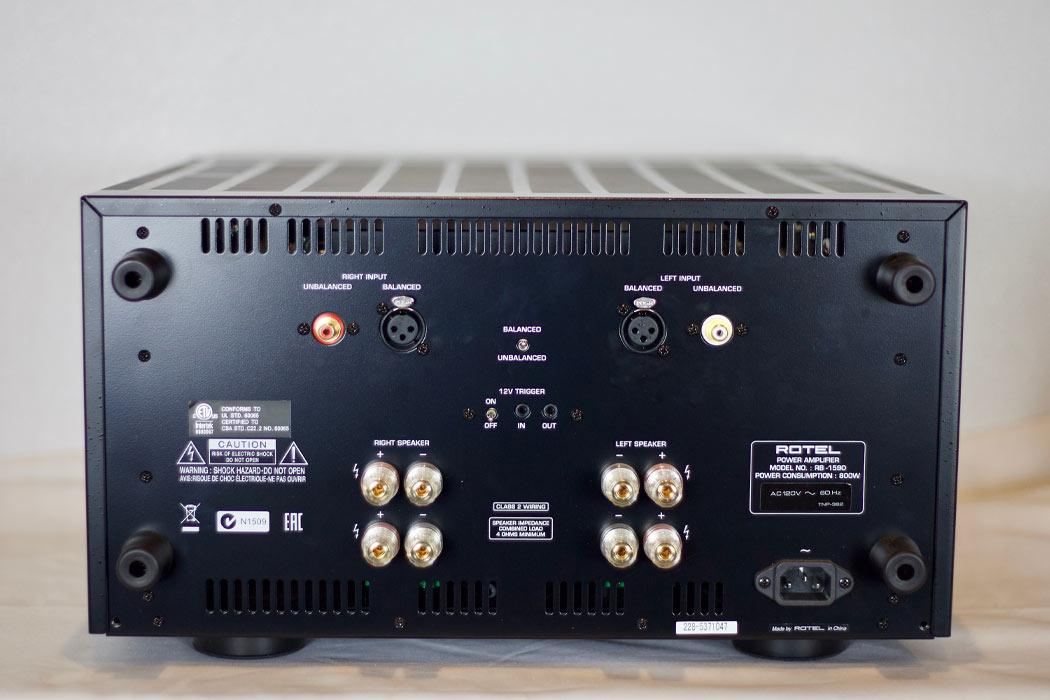 Rotel RB-1590 Amplifier--rear